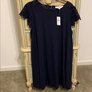 NWOT LOFT navy dress